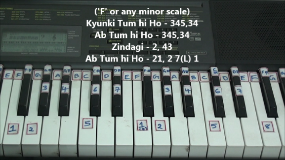 F minor scale