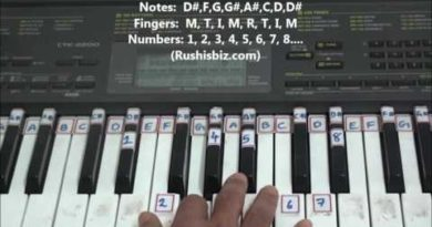 'D#' Major Scale - Right hand finger pattern for Single Octave